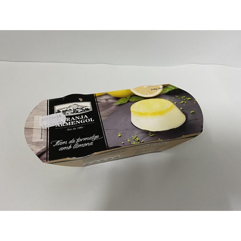 Flam de formatge amb llimona Granja Armengol